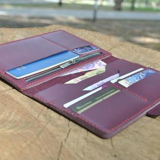 Стильный вместительный кошелек K94-бордо