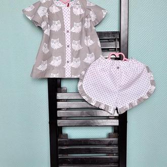 Пижама для девочки, домашняя одежда