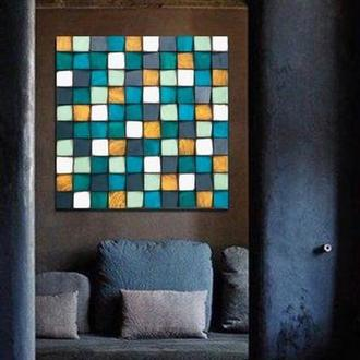 Декорирование стен 3-D мозаикой. Деревянные панели. Панно из дерева