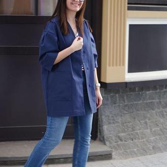 Жіночий жакет з бавовни nklook синій