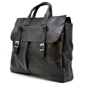 Большая кожанная сумка для ноутбука 17 дюймов RA-7107-extra TARWA
