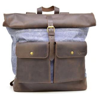 Городской рюкзак ткань канвас и кожа RKj-3462-4lx TARWA
