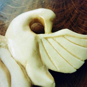 """Заколка/шпилька для волос из дерева """"Царевна Лебедь"""""""