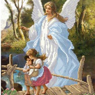 """Схема вишивки бісером """"Ангел і діти"""", Схема вышивки бисером """"Ангел и дети"""""""
