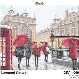 """Схема вишивки бісером """"Зимовий Лондон"""", Схема вышивки бисером """"Зимний Лондон"""""""