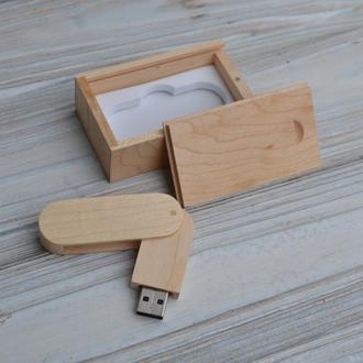 Деревянная флешка с индивидуальной гравировкой