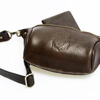 Мужская кожаная сумка.Натуральная кожа.Ручная работа