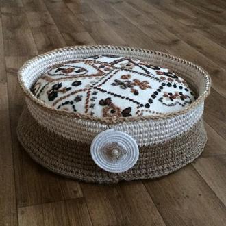 Лежак для животных  из джута