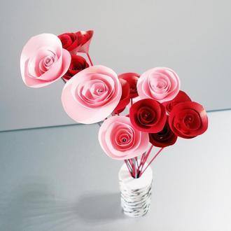 Букет цветов Dali, розово-красный