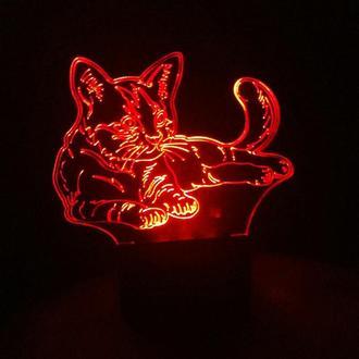 Кот, кошка, ночник лампа светильник, подарок ветеринару, грумеру, кошатнице