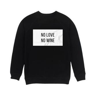 Мужской свитшот No Love No Wine