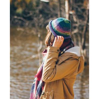 Шапка ручной работы женская модная красивая эксклюзивная. Большой выбор