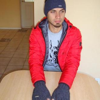 Митенки мужские перчатки без пальцев, повязка на голову