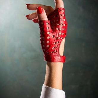 Дизайнерские кожаные перчатки