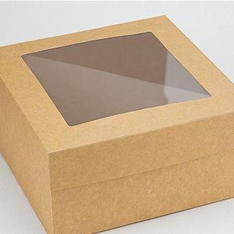 Коробка 200/200/100мм с окошком