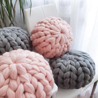 Подушки декоративные из толстой мериносовой шерсти