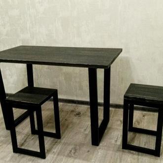 Комплект мебели из трех предметов стол обеденный плюс два табурета