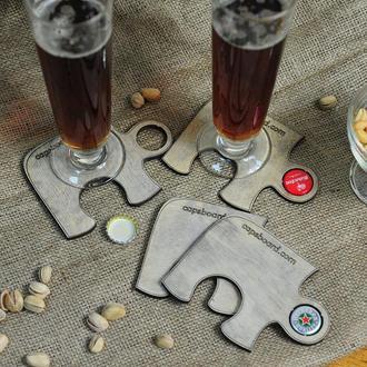 Набор подставок под пивные кружки CAPS BEER
