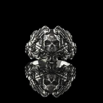 """Мужское кольцо с черепом """" William """" из серебра 925"""