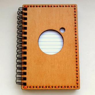 Блокнот  А6 с деревянной обложкой