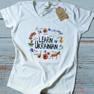 Украинская футболка, принт.