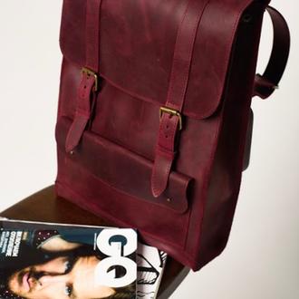 Кожаный рюкзак  (арт.510) Рюкзак для ноутбука
