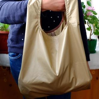 "Сумка-пакет ""Маечка"" для с плащевки с чехлом, эко сумка, хозяйственная сумка,торба, сумка шоппер 27"
