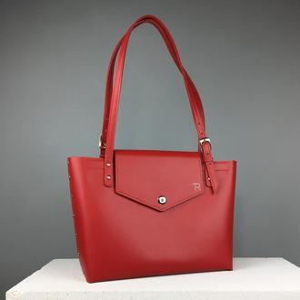 Кожаная сумка шоппер (art:40022)