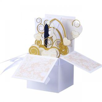 Свадебная коробочка-открытка