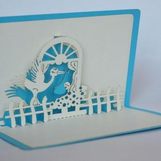 3d день рождения открытка