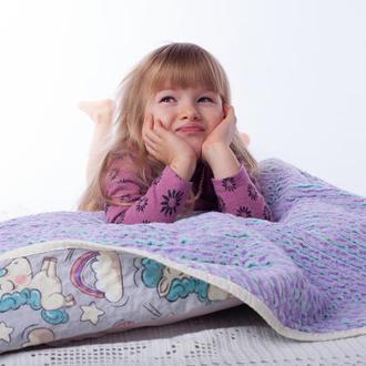 Плед дитячий Єдиноріг на веселці Плед для новонародженого Подарунки для дівчаток Дитяче ковдру Фланель