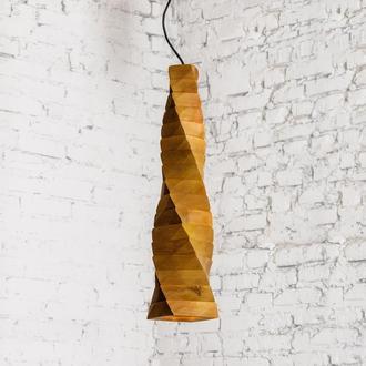 Дизайнерская прикроватная люстра из массива дерева