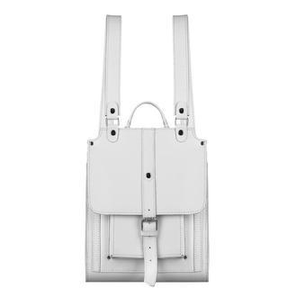 Женский белый кожаный рюкзак