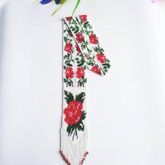 """Гердан """"Троянди"""", найкращий подарунок Подарок маме Украшение на подарок Колье розы"""