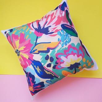 Декоративная подушка цветы, подушка маме Киев, подарок девушке, подарок. бабушке, подушка жене