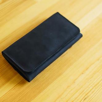 Функциональный клатч, портмоне для купюр и телефона, стильный подарок
