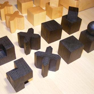 Шахматный набор Bauhaus. Конструктивизм. Шахматы.