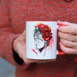 Чашка с  иллюстрацией «Анна Ахматова»