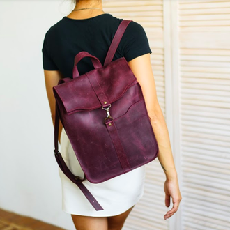 Удобный рюкзак для работы и учебы, рюкзак из натуральной кожи, рюкзак для прогулок