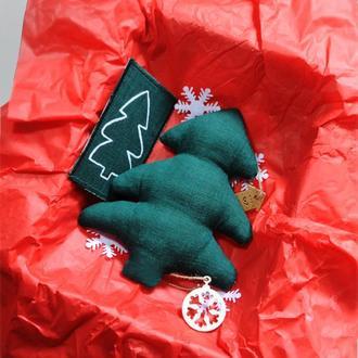 Новогодний подарок Елка для подарка и декора на Новый год Эко Игрушка