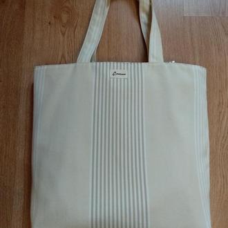 """Отличная легкая сумка шоппер """"полосатик"""""""