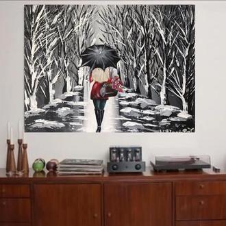Картина на полотні «Леді в червоному»