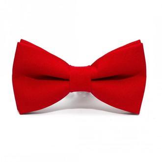 Червоний матовий краватка метелик, Красная матовая галстук бабочка
