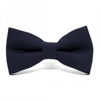 Темно-синій матовий краватка метелик, Темно-синяя матовая галстук бабочка