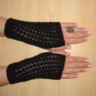 Митенки перчатки без пальцев ажурные - Новый японский ажур