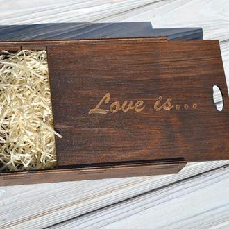 Деревянные коробочки для фотографий / флешек / дисков, свадебный подарок