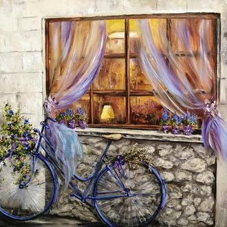 """Картина маслом """"У окна"""", холст на подрамнике, масло, 35х45 см"""