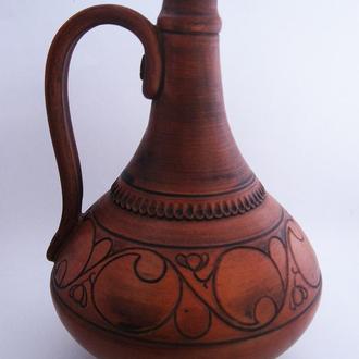 Глечик для вина керамічний ручної роботи