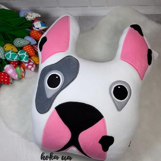Мягкая игрушка - подушка собака Французский бульдог