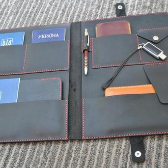 Папка до документов и бумаг А4 формата PAP01-450+red